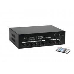 Amplificator-mixer 100V cu player audio si BT Omnitronic CP-120P