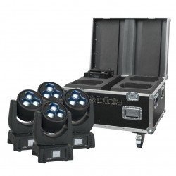 Set 4 x moving head iW-340 + case Infinity iW-340 RDM Set