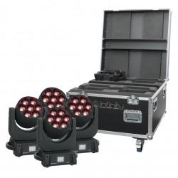Set 4 x moving head iW-740 + case Infinity iW-740 RDM Set