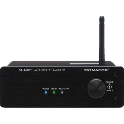 Amplificator cu Bluetooth si NFC Monacor SA-160BT