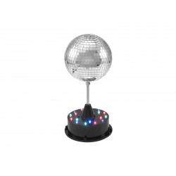 Efect sfera cu oglinzi LED Eurolite LED Mirror Ball 13cm with Base