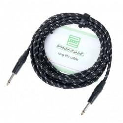Cablu Jack 6.3 mono la Jack 6.3 mono, textil, Pronomic Stage INST-6T