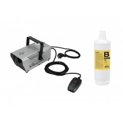 Set N-10 silver + B2D Basic smoke fluid 1l, Eurolite 20000538