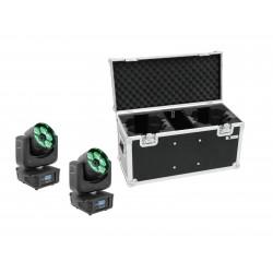 Set 2x LED TMH-16 Moving-Head Zoom Wash + Case Eurolite 20000572