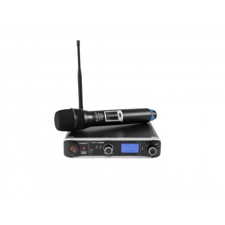 Set wireless cu receiver si 1 microfon, Omnitronic UHF-301 823-832/863-865MHz