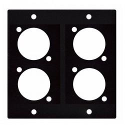 Panou rack pentru 4 mufe XLR sau speakon DAP Audio D-Size Panel