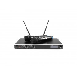 Set wireless cu receiver si 2 microfoane, Omnitronic UHF-302 823-832/863-865MHz