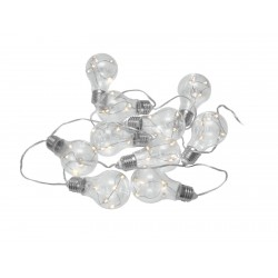 Lant de 10 becuri LED Eurolite LED PAL-10 Battery-Powered Light Chain