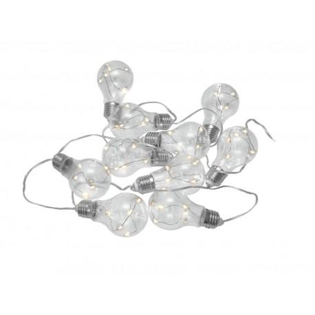 Lant de 10 becuri LED Eurolite LED PAL-10 Battery-Powered Light Chain