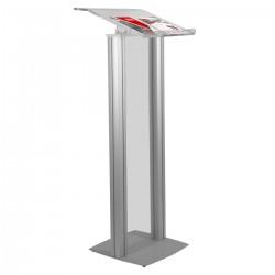 Pupitru pentru conferinta din plexiglas si aluminiu Partysound PCF-Basic/S
