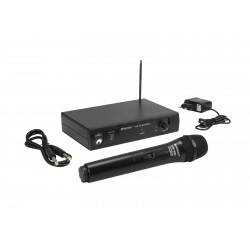 Set microfon wireless Omnitronic VHF-101 209.80MHz