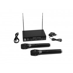 Set wireless cu receiver si 2 microfoane, Omnitronic VHF-102 209.80/205.75MHz