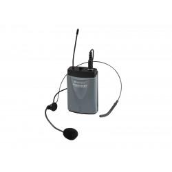 Lavaliera wireless pentru sistem portabil Omnitronic WAMS-65BT Bodypack Transmitter incl. Headset