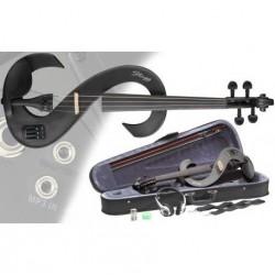 Vioara electrica 4/4, negru metalic, EVN-4/4 MBK Stagg