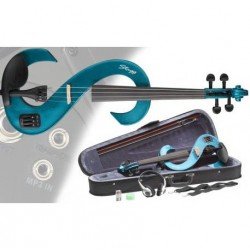 Vioara electrica 4/4, albastru metalic, EVN-4/4 MBL Stagg