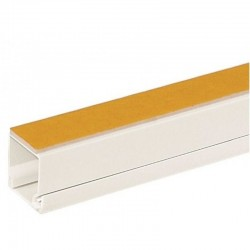 Canal de cablu 12 x 12mm, autoadeziv, alb, Accesory CBLCH-12x12WH