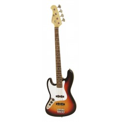 Chitara bas electrica tip Jazz pentru stangaci, sunburst, Dimavery JB-302LH-SB