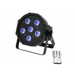 Proiector compact de podea cu LED SLS-603 TCL + UV Floor 6x3 W Eurolite