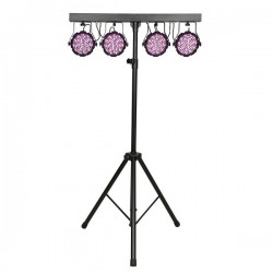 Set 4 proiectoare LED + stand Showtec Compact Lightset MKII