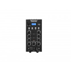 Mixer cu 2 canale, BT si USB player Omnitronic GNOME-202P Mini Mixer black