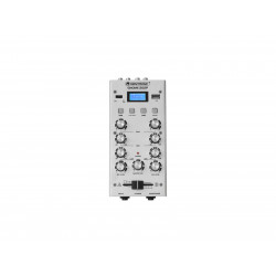Mixer cu 2 canale, BT si USB player Omnitronic GNOME-202P Mini Mixer silver