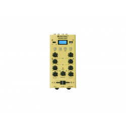 Mixer cu 2 canale, BT si USB player Omnitronic GNOME-202P Mini Mixer gold