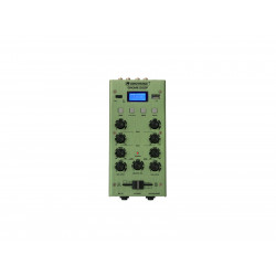 Mixer cu 2 canale, BT si USB player Omnitronic GNOME-202P Mini Mixer green