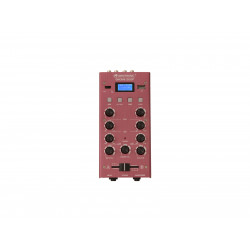 Mixer cu 2 canale, BT si USB player Omnitronic GNOME-202P Mini Mixer red