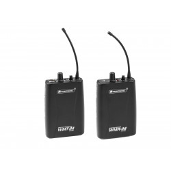 Set transmitator + receptor wireless, Set WMT-1M UHF Transmitter + WMR-1M UHF Receiver OMNITRONIC 20000667