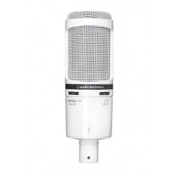Microfon cardioid condenser cu USB, Audio-Technica AT2020USB+WH