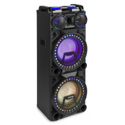 "Boxa activa 2x10"" 1600W LED Bluetooth/USB Fenton VS210"