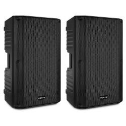 "Set boxe active 15"" 2x200W RMS LED Bluetooth/USB Vonyx VSS150"