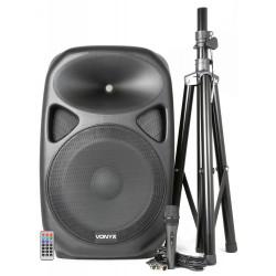 "Boxa activa Vonyx SPS152 15"" 250W RMS USB/MP3/BT/Radio+ stativ + microfon cu fir"