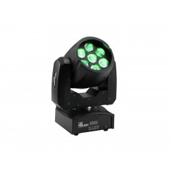 Moving-head zoom wash cu 7 LED-uri de 9W, Eurolite TMH-W63