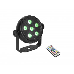 Proiector cu 6 led-uri RGB si telecomanda IR, Eurolite LED PK-3 USB