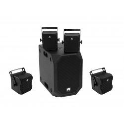 Set negru subwoofer activ + 4 topuri, Omnitronic Set BOB-10A bk + 4x BOB-4 bk