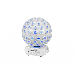 Efect lumini LED ¨laser beam¨, color mixing RGBW si laser RG, alb, Eurolite LED B-40 WH