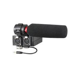 Kit mixer audio cu microfon shotgun pentru camere video Saramonic MixMic