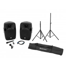 Sistem audio activ Omnitronic Set XFM-212AP + Speaker stand MOVE MK2