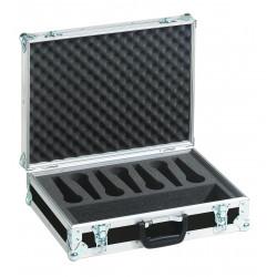 Flightcase negru pentru 7 microfoane, Roadinger 30109900