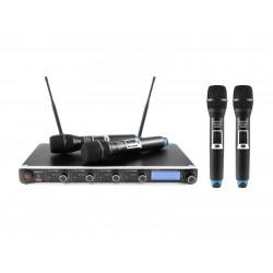 Set wireless cu receiver si 4 microfoane, Omnitronic UHF-304 823-832/863-865MHz