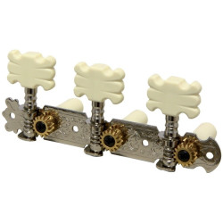 Set de 3 cheite de acordaj pentru chitara clasica cu butoane crem, GEWA 545.316