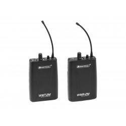 Set transmitator + receptor wireless, Set WMT-2M UHF Transmitter + WMR-2M UHF Receiver OMNITRONIC 20000698