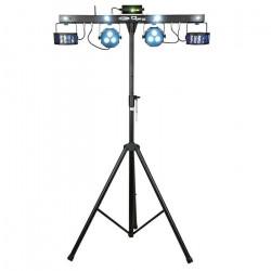 Set 4 lumini LED + 4 strobe + laser Showtec QFX